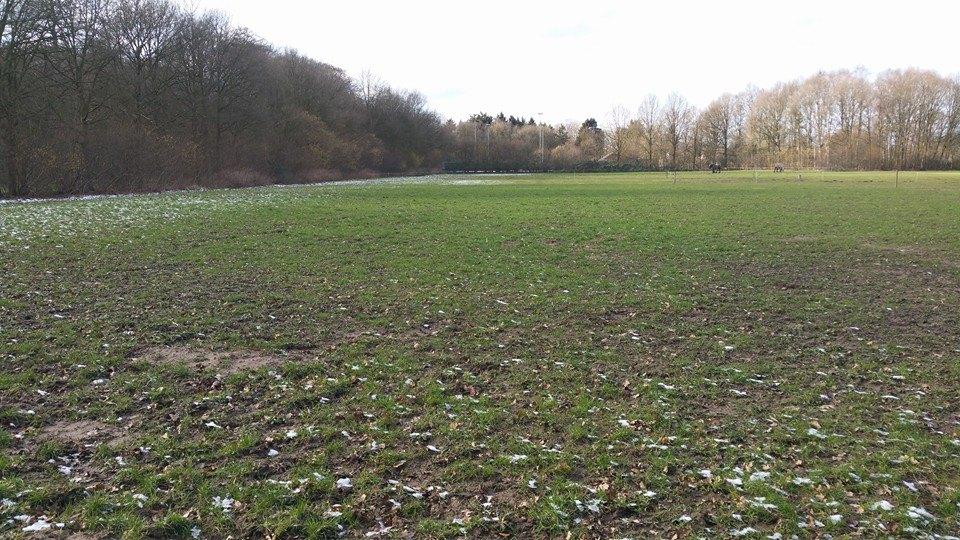 Terrein oude voetbalvelden naast Hessenhal